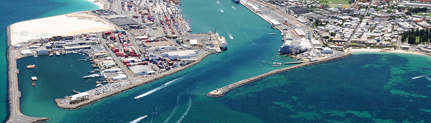 Airview of Fremantle Port