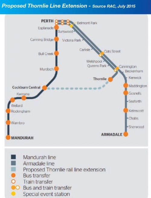 Proposed Thornlie Line Extension Diagram