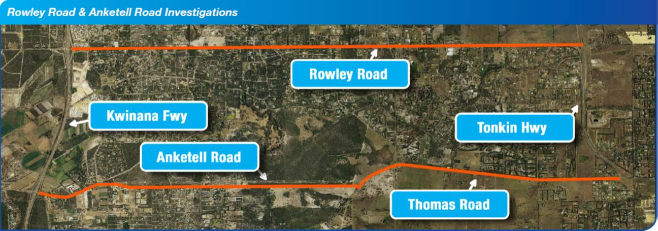 Rowley Road & Anketell Road Investigations Map