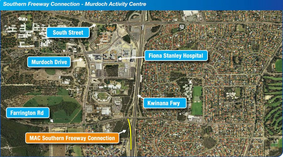 Southern Freeway Connection - Murdoch Activity Centre Arial Map